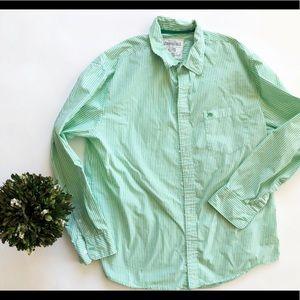 Aeropostale Striped Button Down Shirt XL